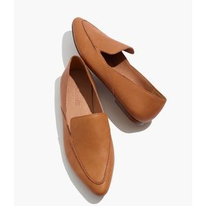 Madewell The Frances Skimmer Flat in Leather NIB 8